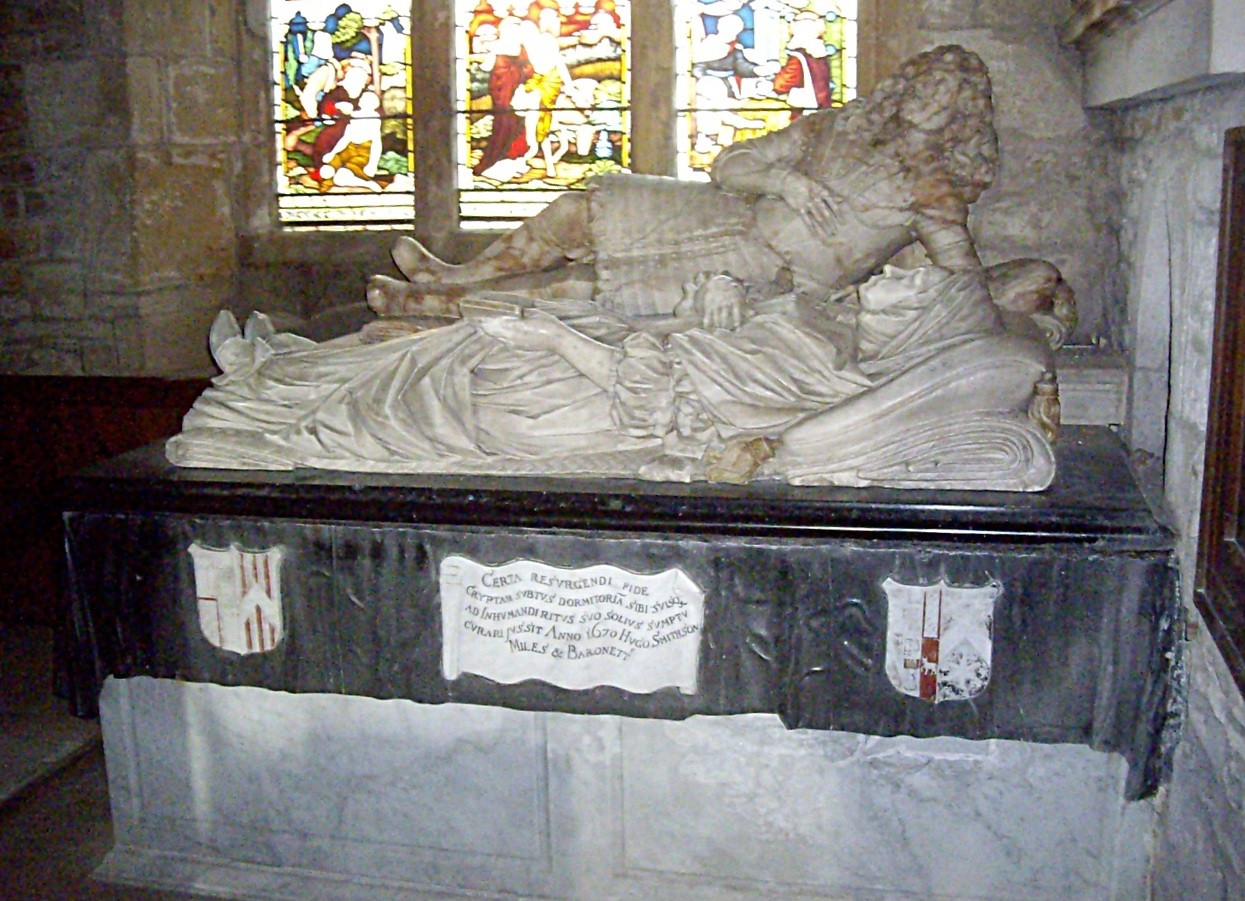 File:Smithson tomb chest, St John the Baptist church, Stanwick