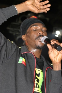Reggae artist Anthony B performing at Studio 7...