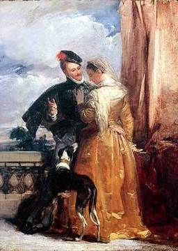 Bonington Amy Robsart and the Earl of Leicester
