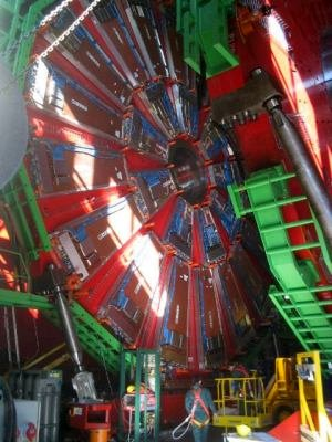 Part of the LHC at CERN, an experimental endeavor