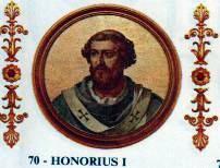 Portrait of Pope Honorius I in the Basilica of...
