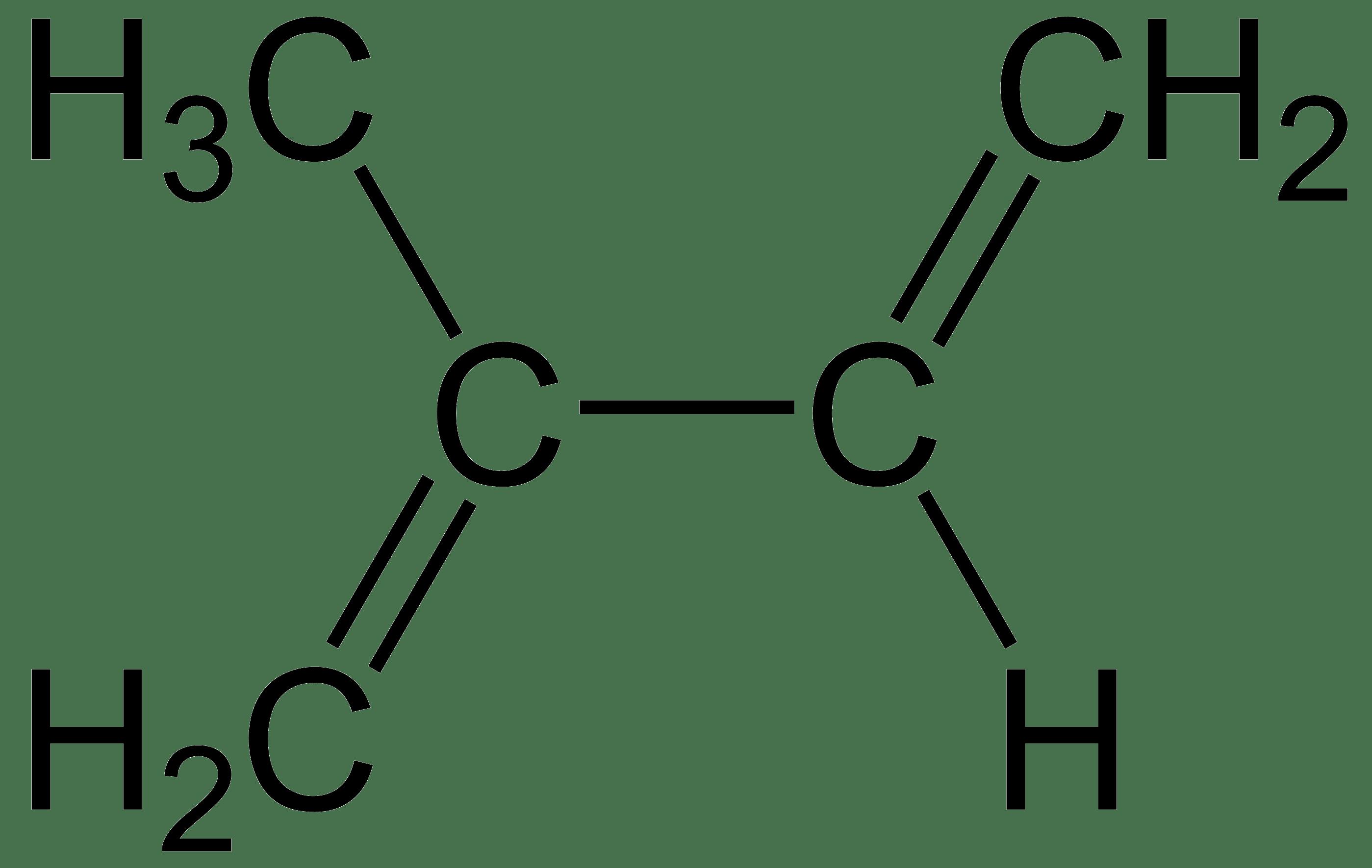 Estructura del isopreno