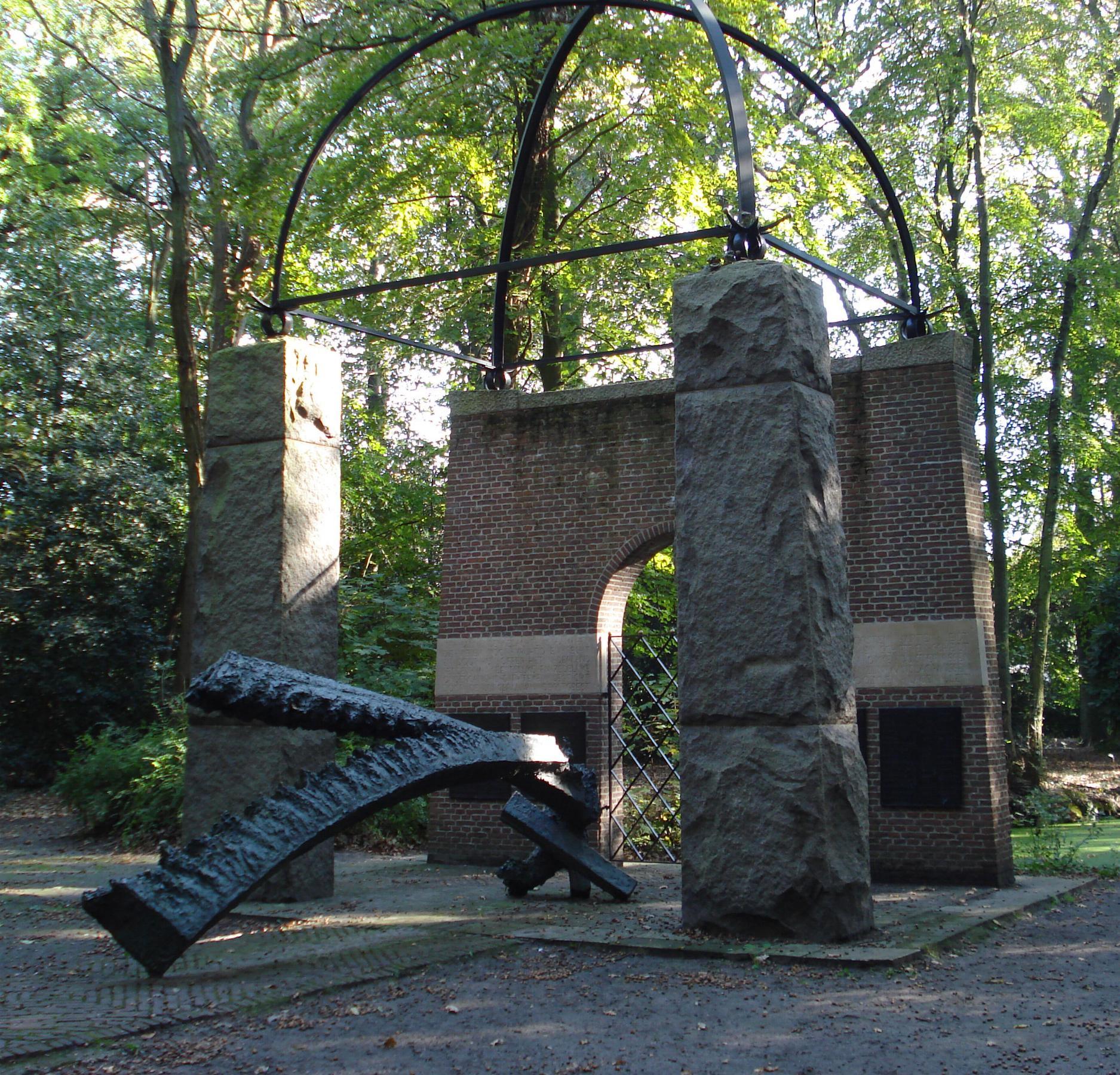 World War II resistance monument in Oegstgeest, by Herbert Nouwens