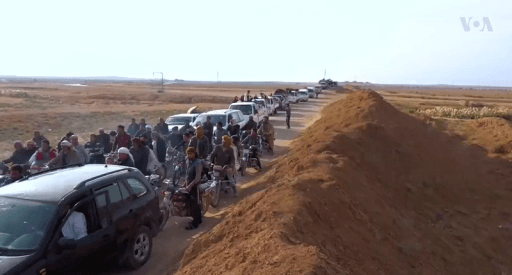 Villagers return to Al-Hisbah after SDF conquest (November 2016)