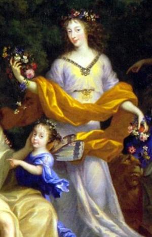 Henriette of England with her daughter Marie Louise from the Family of Louis XIV by Nocret.jpg
