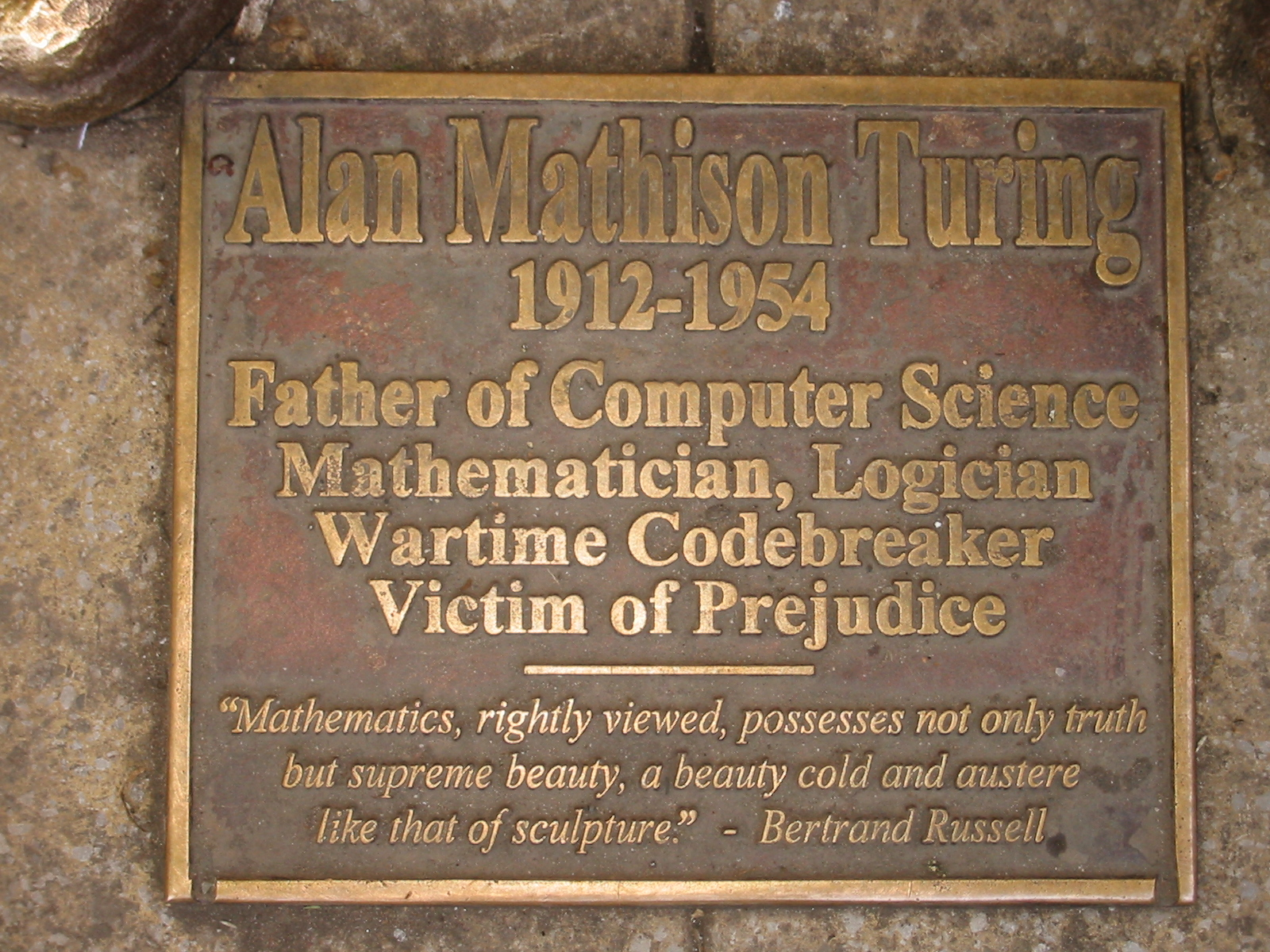 Alan Turing plaque