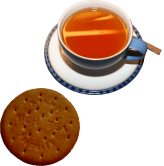 A picture of Tea and a Biscuit.
