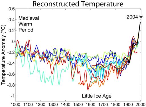 1000 Year Temperature Comparison