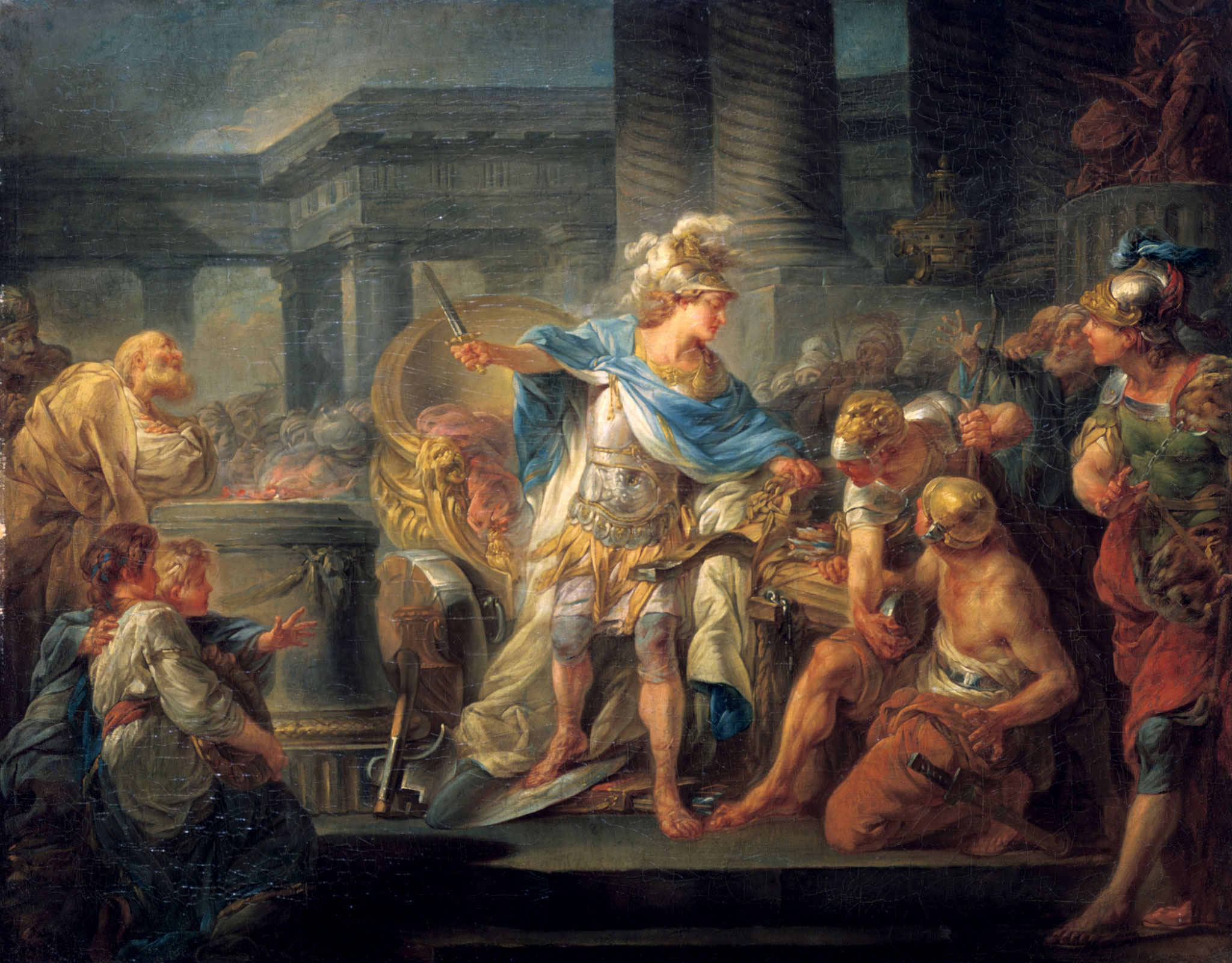 Alexander the Great cuts the Gordian Knot!