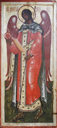 Gabriel the Archangel, Russian icon from first...