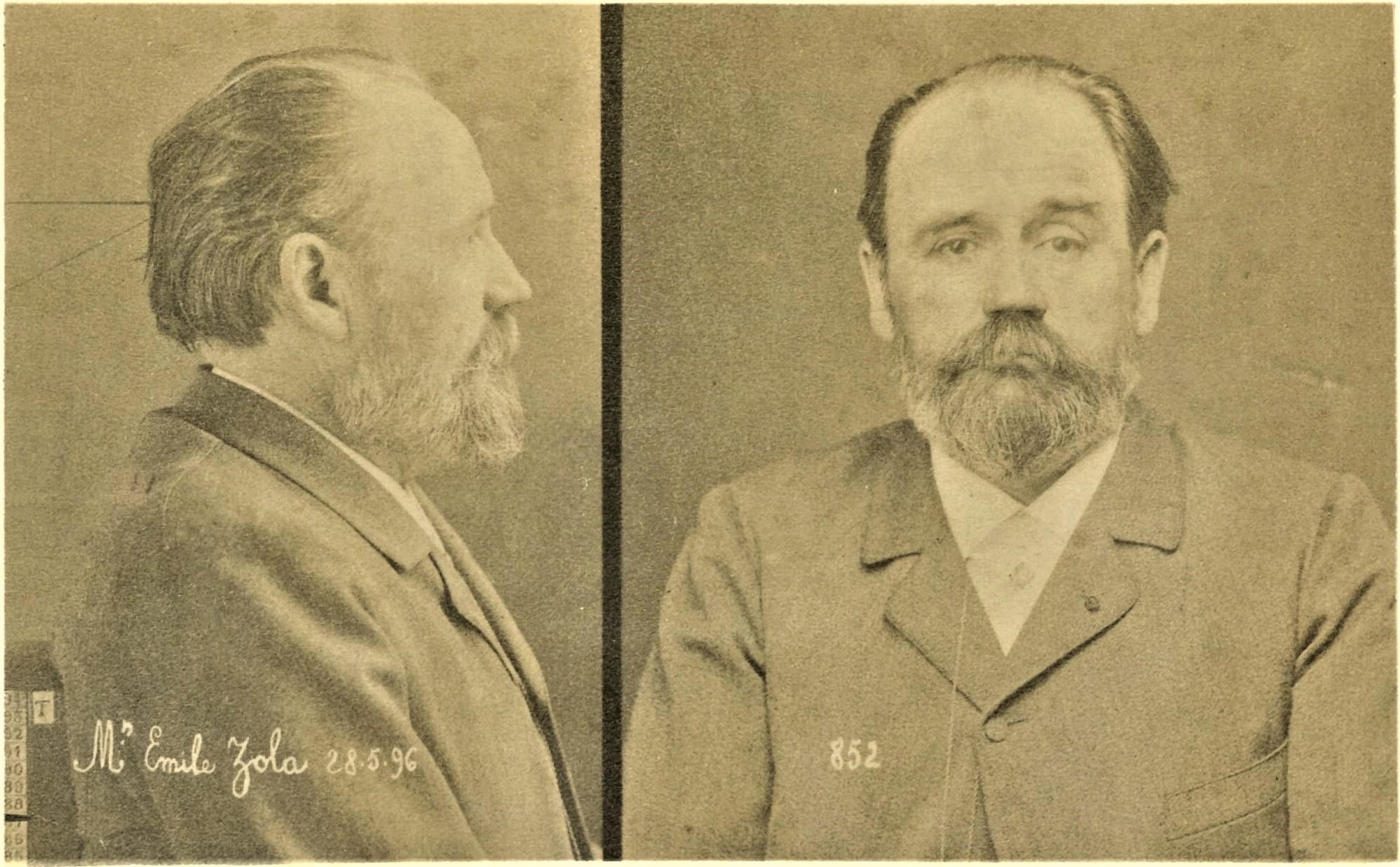 Photo anthropomorphique d'Emile Zola - Affaire...