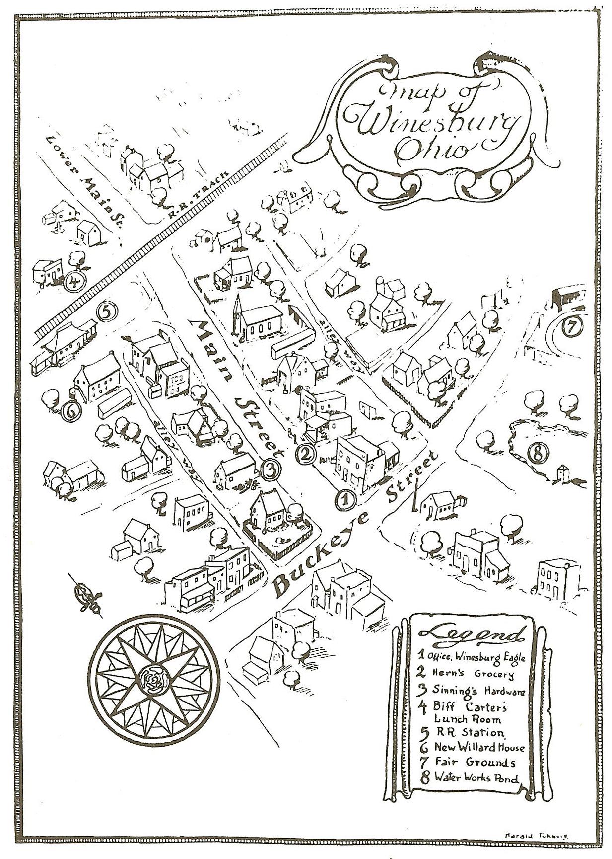 File Map Of Fictional Winesburg Ohio