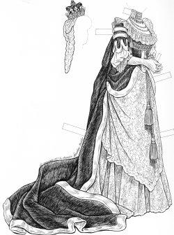 English: Consuelo Vanderbilt - paper doll bride