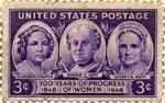 Postage stamp featuring Elizabeth Stanton, Car...