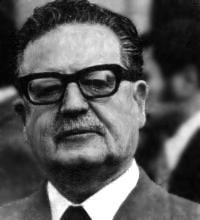 Español: Presidente de Chile Salvador Allende ...