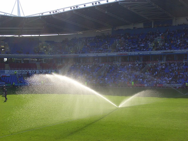 Half-time watering, the Madejski Stadium - geograph.org.uk - 994437