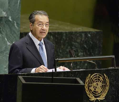 Former Malaysian Prime Minister, Tun Dr Mahath...
