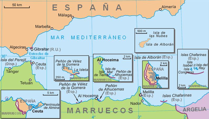 Territorios españoles en el norte de África
