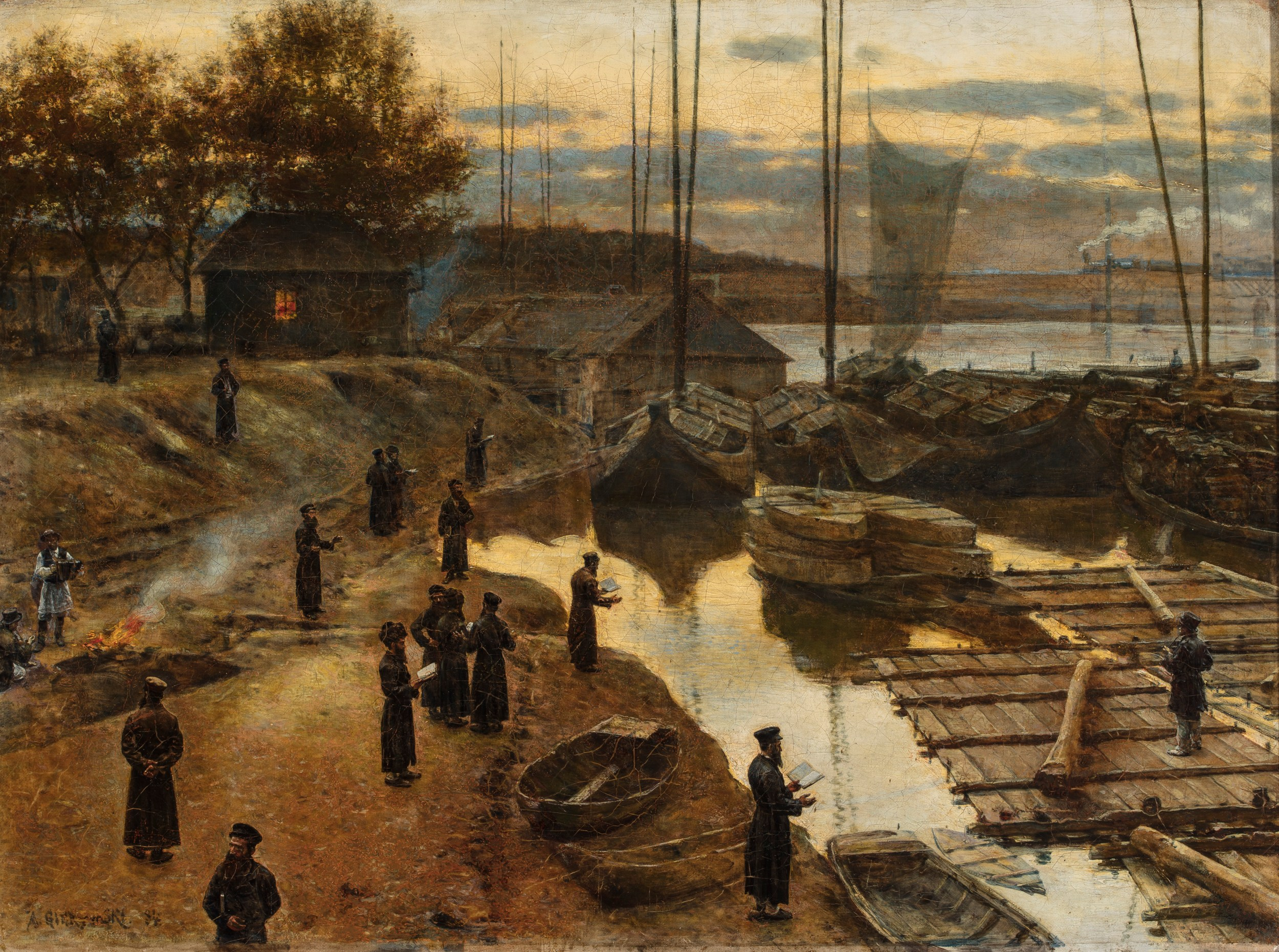 Painting of Tashlich