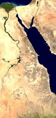 Nile & Red Sea from sattellite