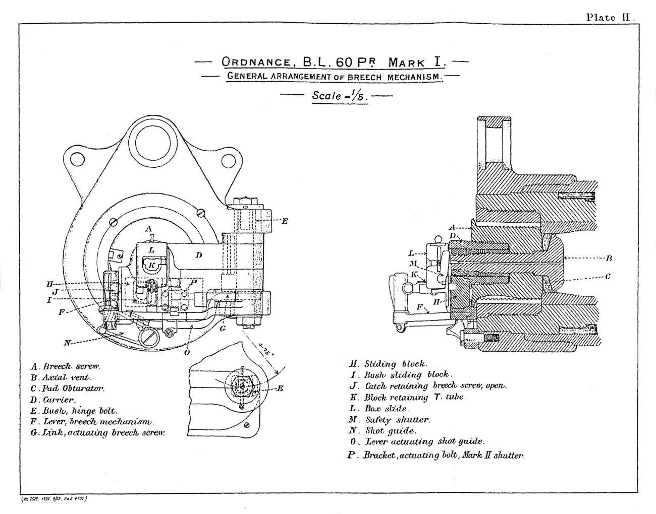 File Bl 60 Pounder Mark I Breech Mechanism Diagrams