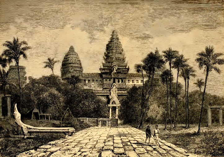 Henri Mouhot's drawing of Angkor