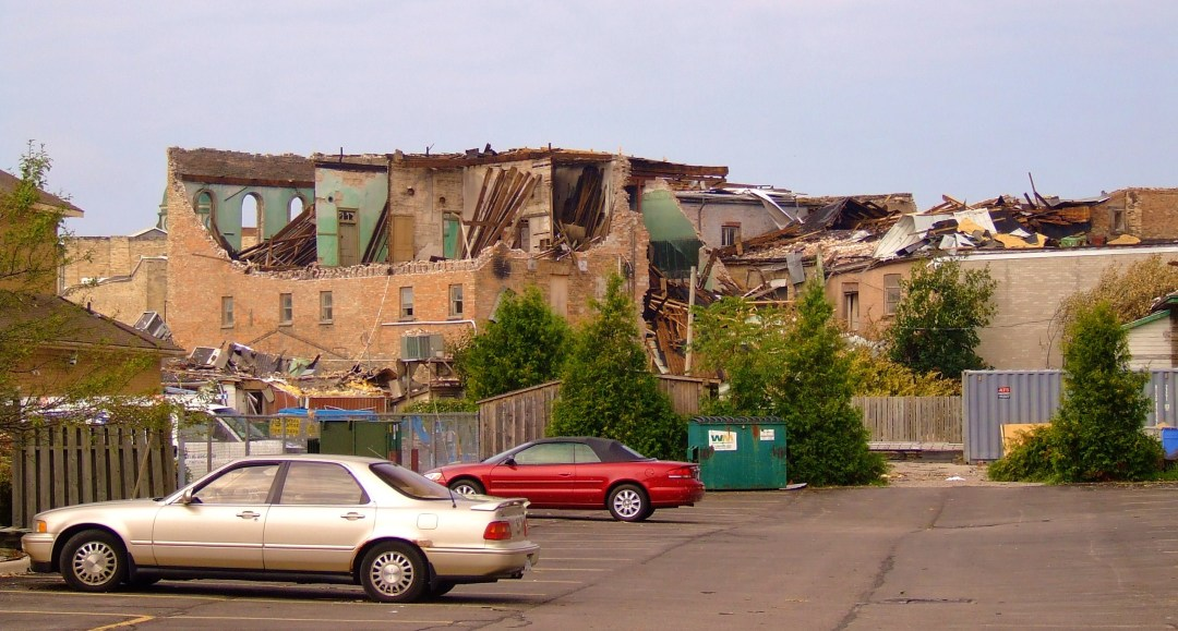 Tornado damage in Goderich