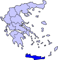 Location of Crete Periphery in Greece.