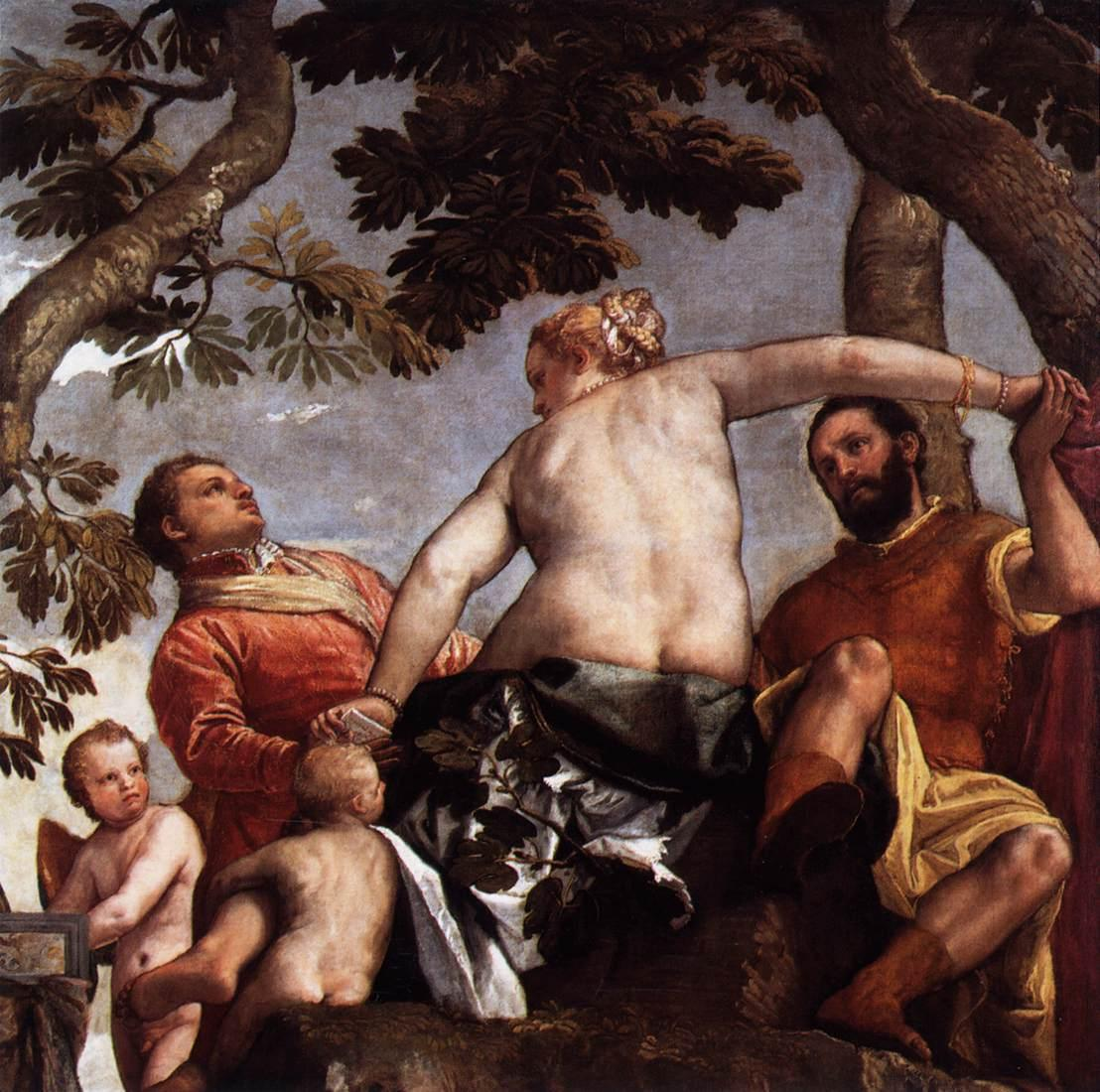 Infidelity by Veronese, 1575 (Wikimedia Commons)