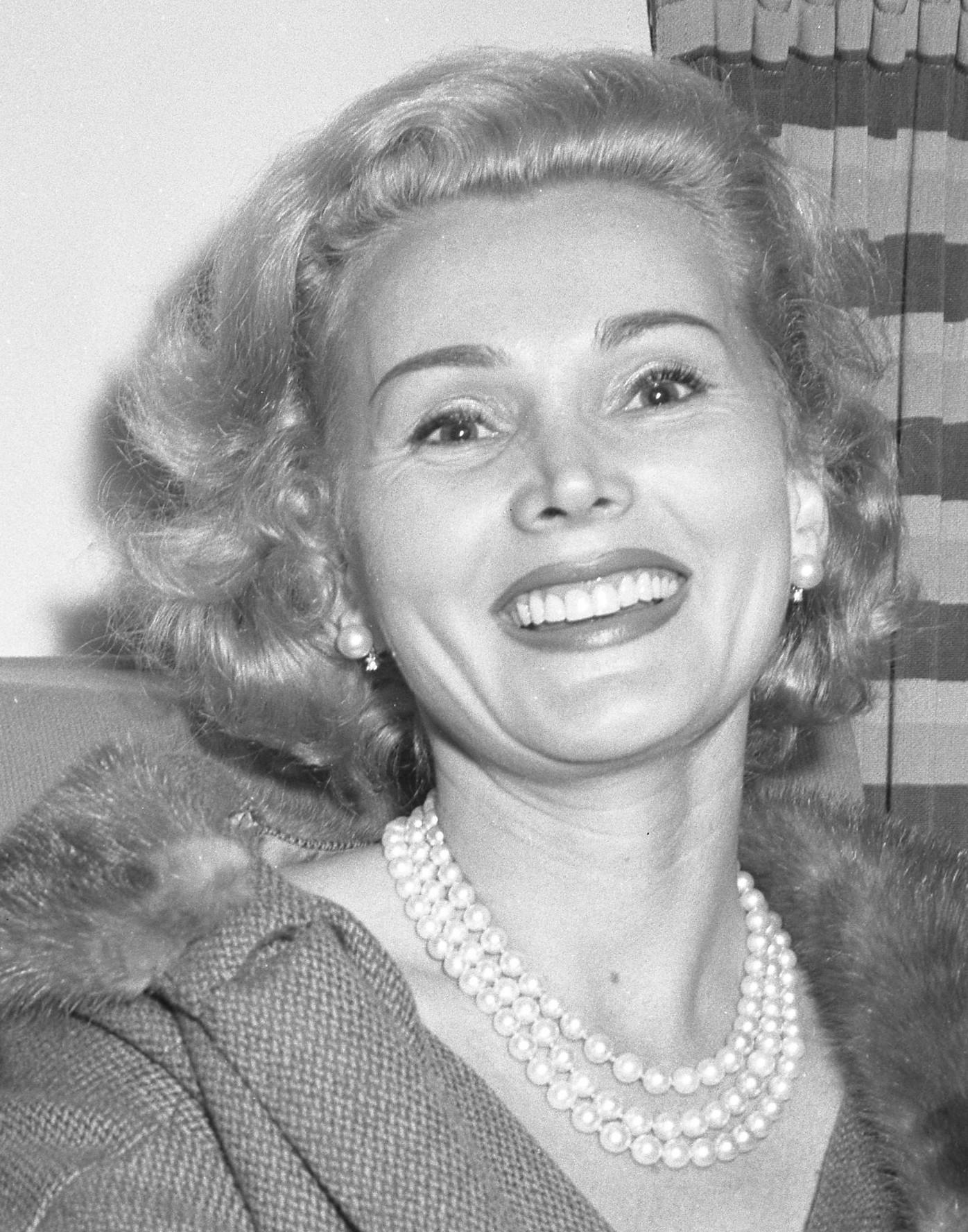 Actress Zsa Zsa Gabor, circa 1954, this is a c...