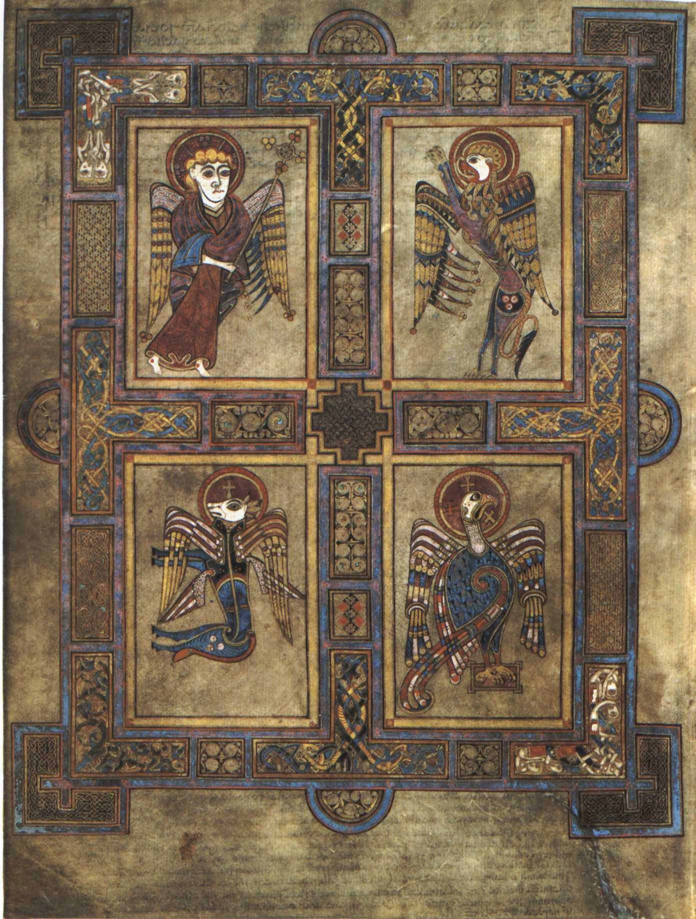 Symbols of the Four Evangelists from the Book of Kells