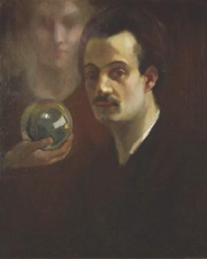 Khalil Gibran - Autorretrato con musa, c. 1911