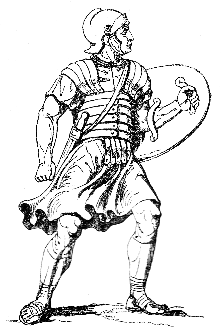 roman soldier colouring pages