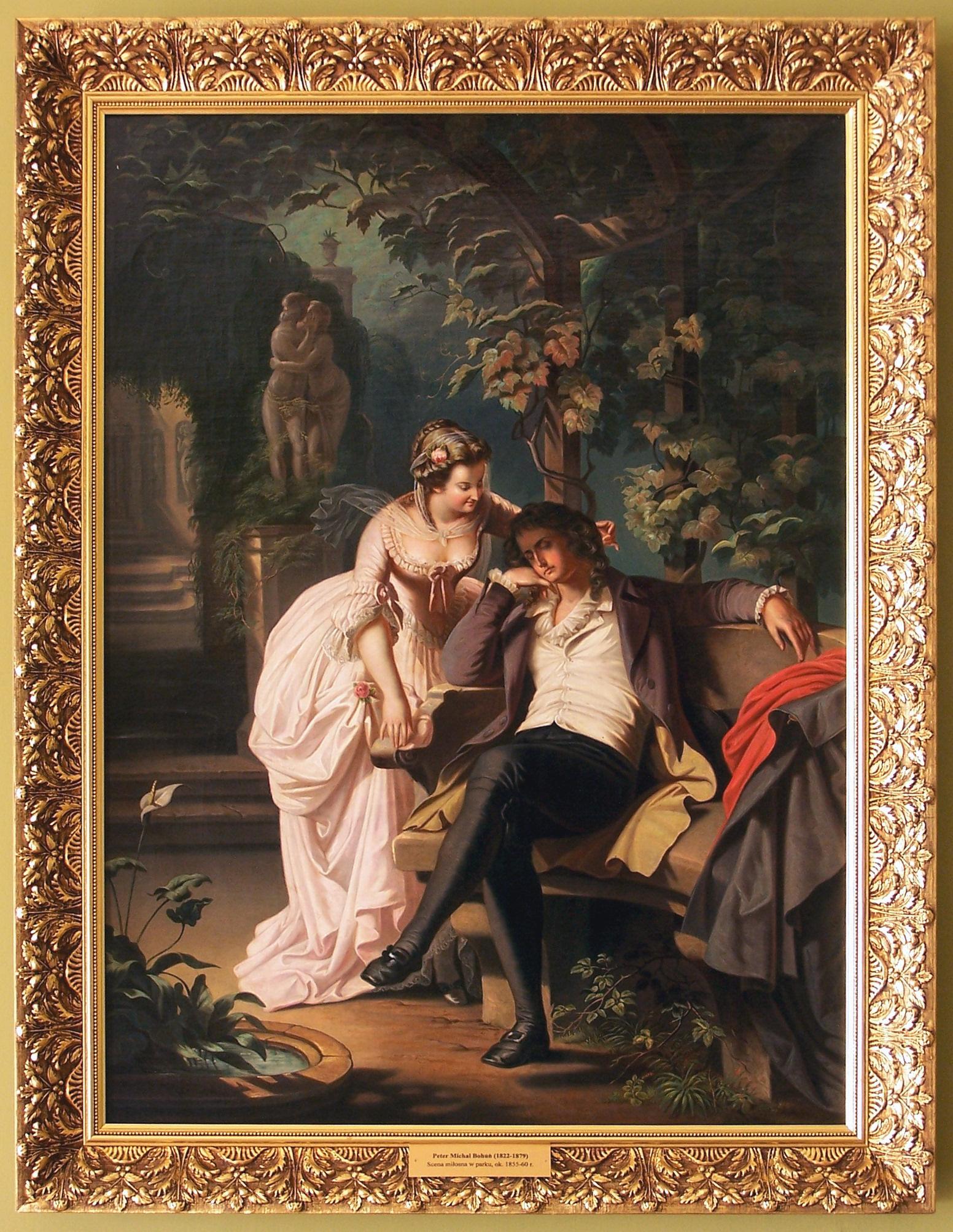 Escena de amor en el parque de Bohúň. Fuente: wikipedia eslovaca