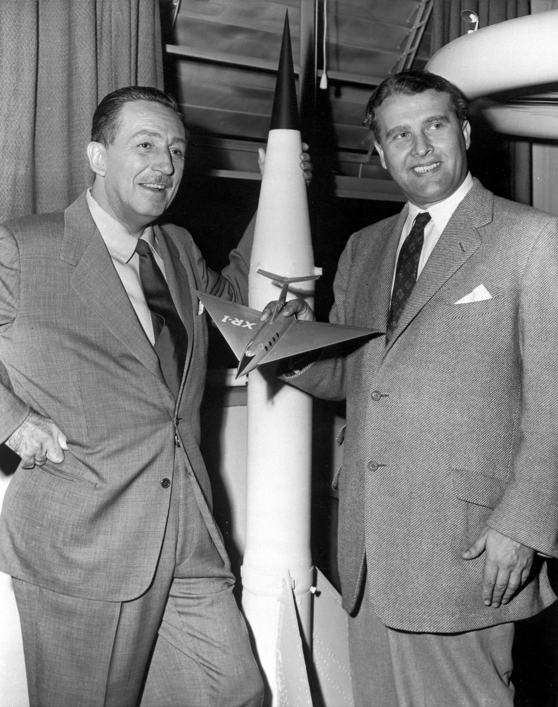 Walt Disney y Von Braun.