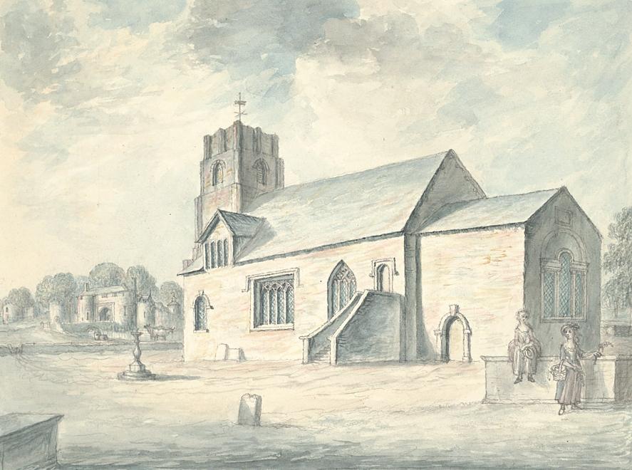 Whittington church and castle 1793
