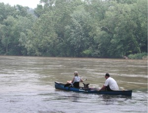 English: Canoeing on the Shenandoah River.