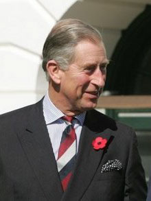 English: Charles, Prince of Wales outside the ...