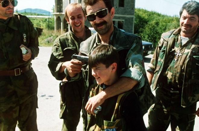 Serbian-leader-gun-jokes-son