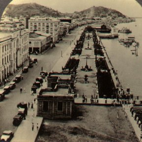 Guyaquil Waterfront, c. 1920, from Stereoptico...