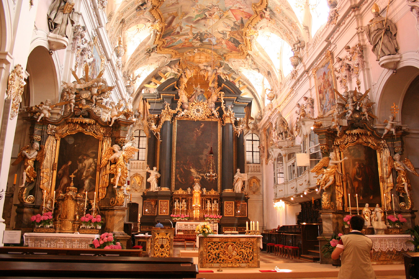 Baroque refurbishment of the medieval basilica of St Emmerams, Regensburg, from Wikimedia Commons