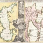 File 1725 Homann Map Of The Caspian Sea And Kamchatka As Yedso Geographicus Caspiankamchatka Homann 1725 Jpg Wikimedia Commons