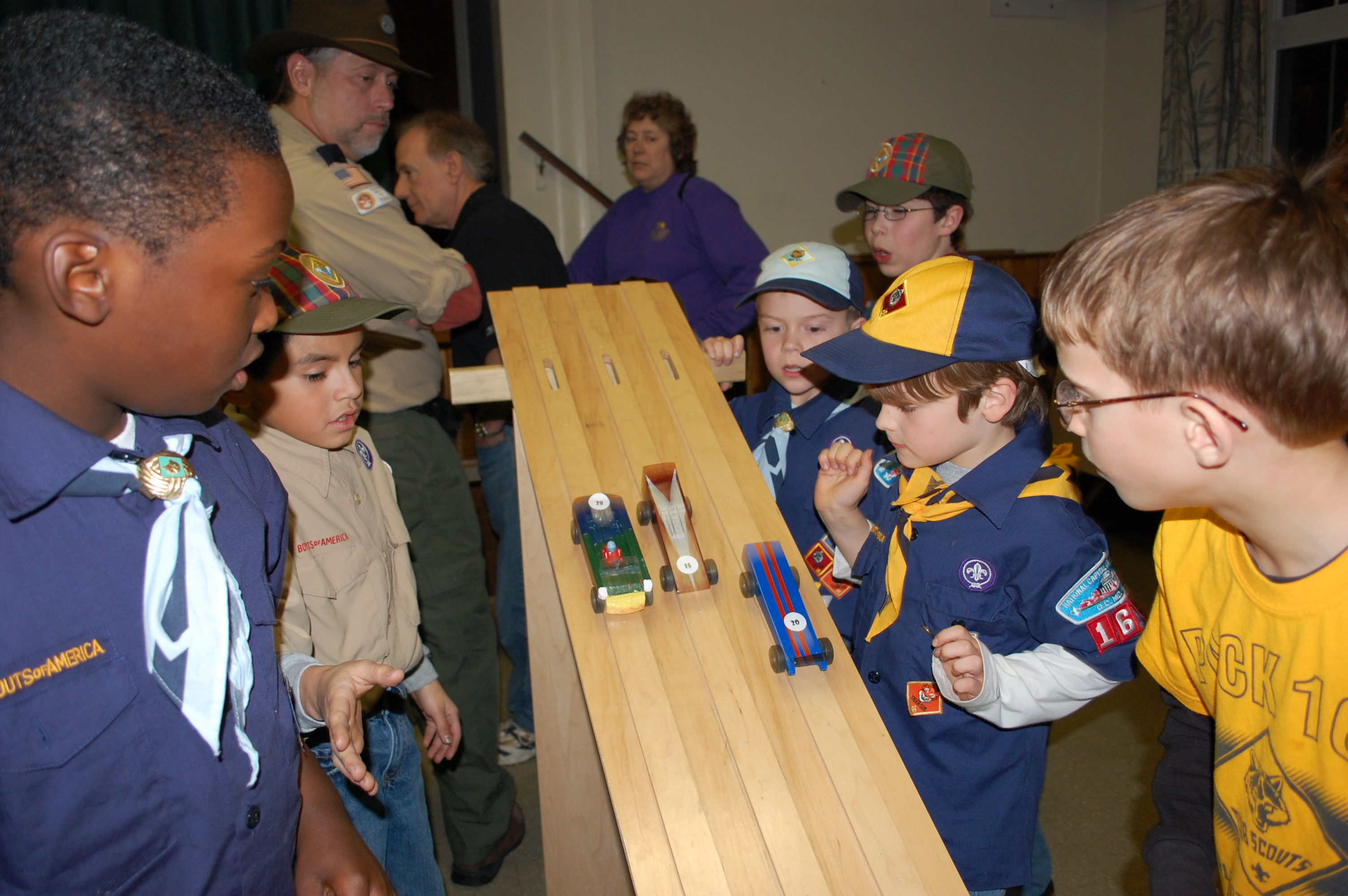 File Cub Scout Pinewood Derby Start