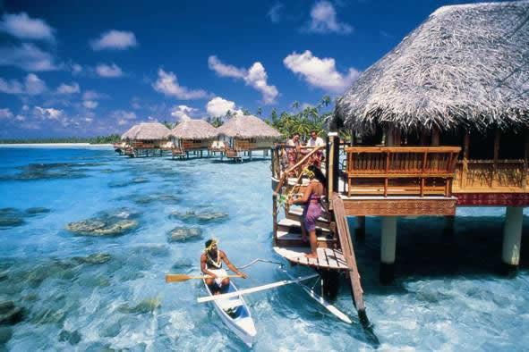 Tropical Vacations Huts Water