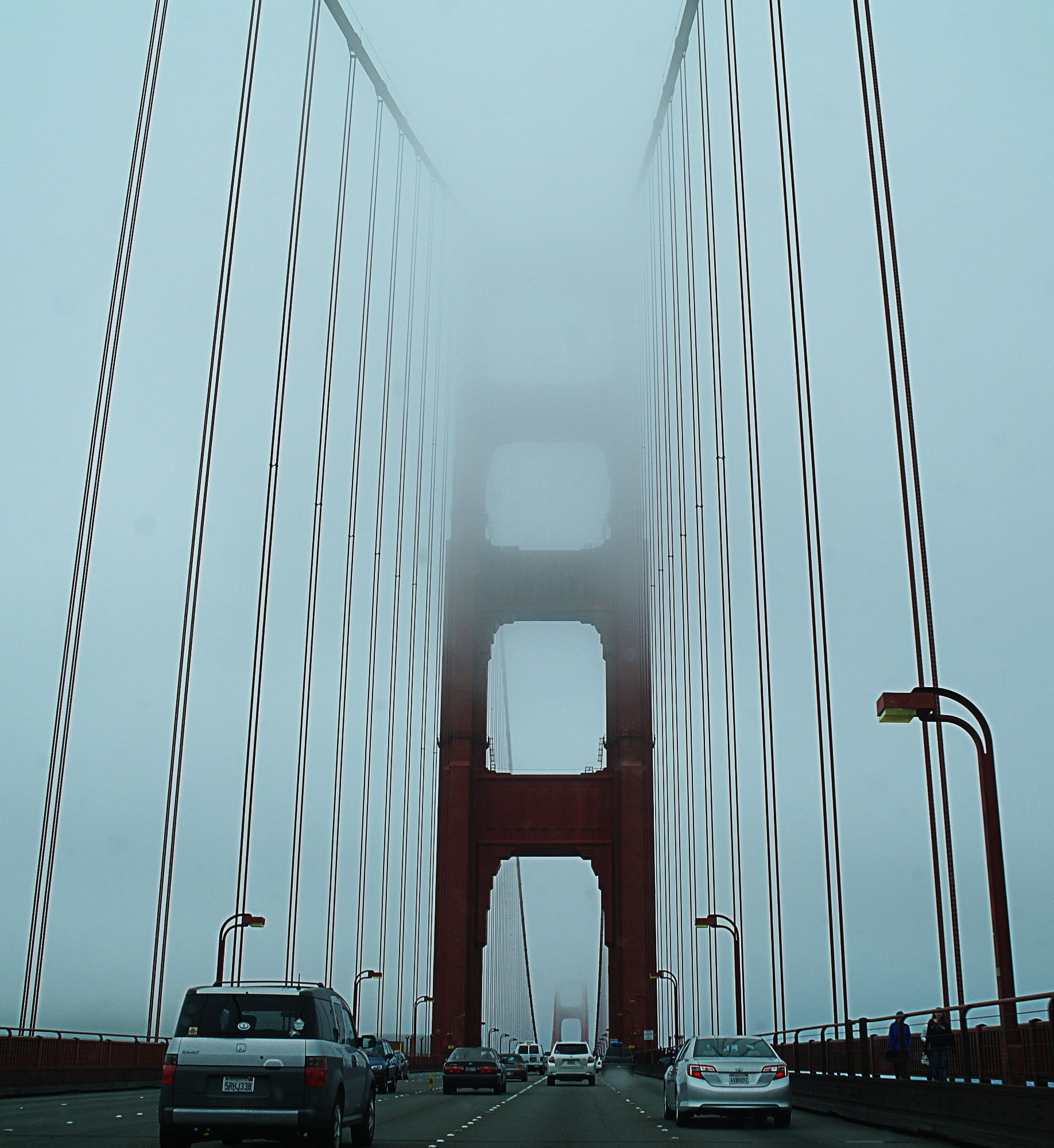 Golden Gate Bridge in fog