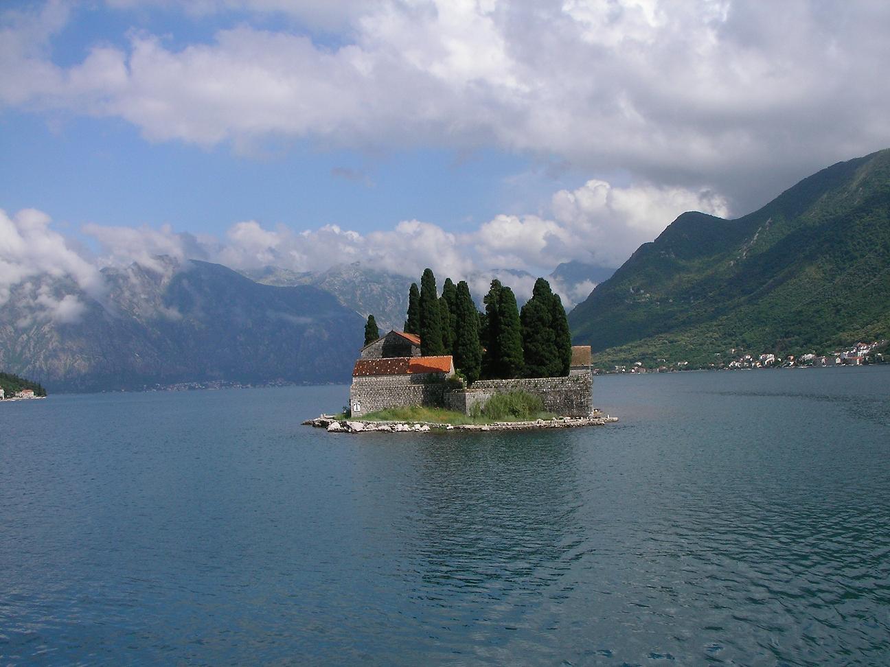 St. Đorđe Isle in Kotor Bay, Montenegro