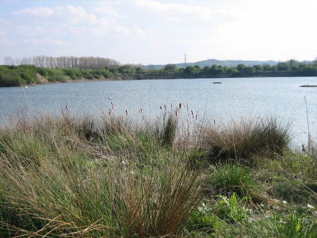 English: Lake at Marston Millennium Park Lake ...