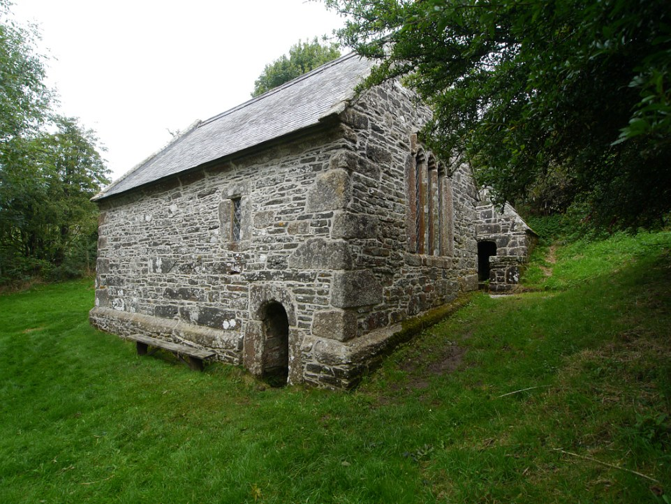 Saint Clether's well chapel.