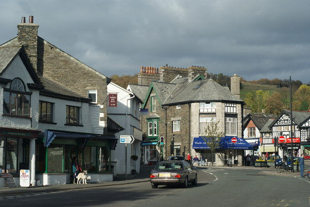Windermere, set in the Lake District UK this lovely town borders the LakeWindermere - Main Road.jpg
