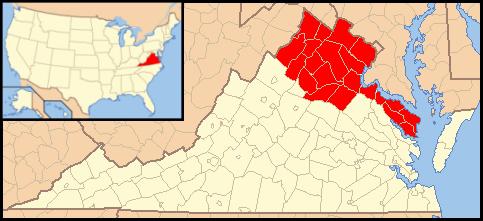 Arlington Diocese Map
